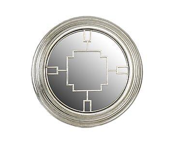 Зеркало - металл - серебряный - Ш7хØ52