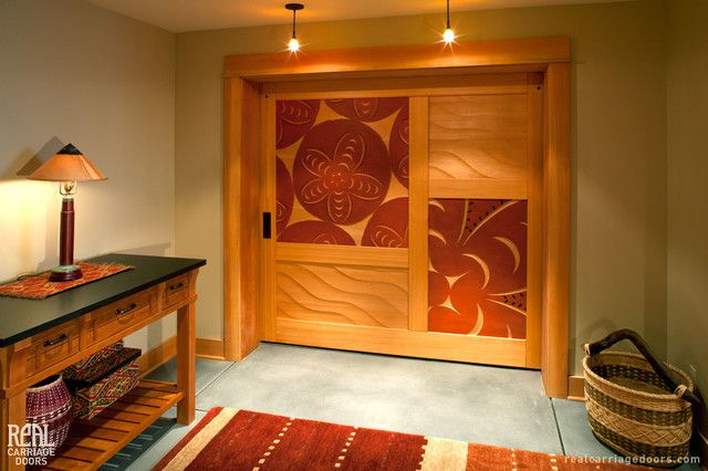 Barn Doors Curving For Aesthetic Sense