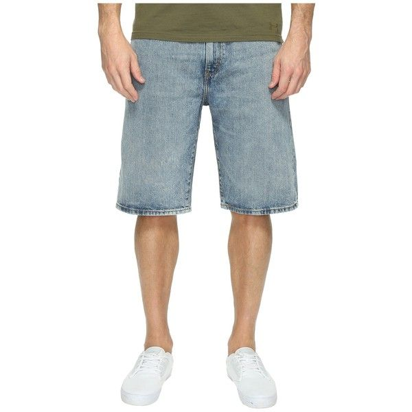 Levi's   Mens 569 Loose Straight Short (Clean Groovin) Men's Shorts ($27) ❤ liked on Polyvore featuring men's fashion, men's clothing, men's shorts, mens short length shorts, mens leather apparel, 1920s mens clothing, mens clothing and mens jean shorts