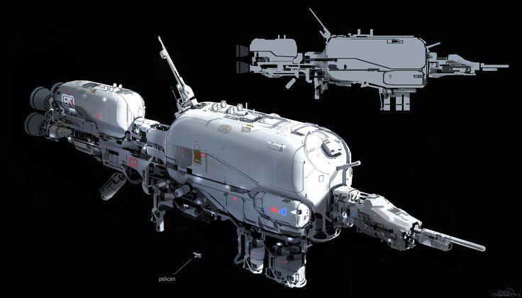 ArtStation - Halo 5 - Argent Moon concept, sparth .