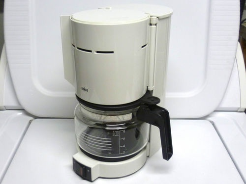 Braun Aromaster Type 4085 10 Cups Coffee Maker w/ Glass Carafe - White - Tested Carafe, Coffee ...
