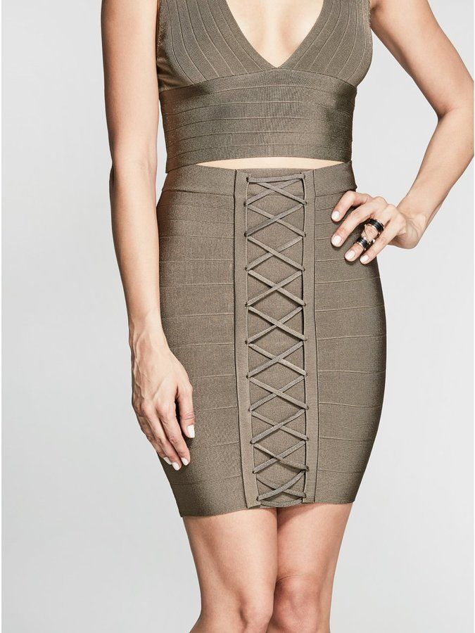GUESS by Marciano Women's Lynx Bandage Skirt