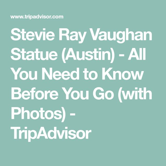 Stevie Ray Vaughan Statue (Austin) - All You Need to Know Before You Go (with Photos) - TripAdvisor
