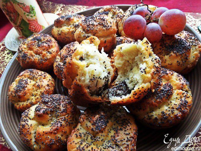 Сливочные булочки с маком. Очень вкусные и ароматные булочки! Приятного аппетита! #едимдома #готовимдома #выпечка #рецепты #кулинария #домашняяеда #вкусно