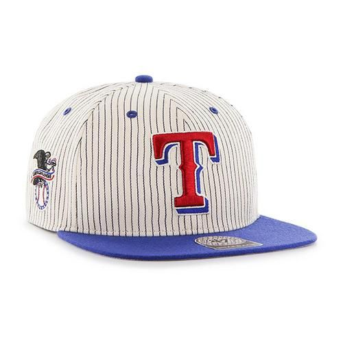 Men's Flatbill Snapback Texas Rangers Striped Hat
