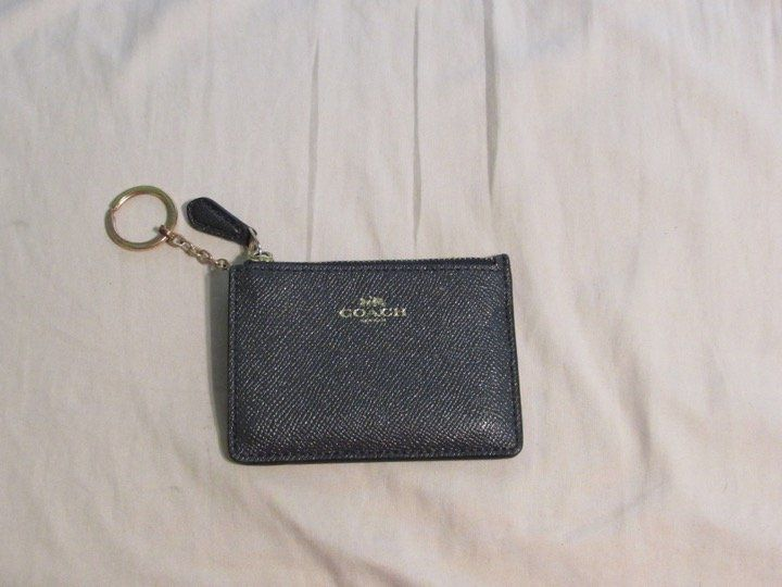 Coach keychain wallet and card holder with images