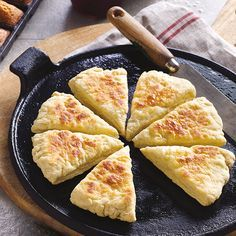 Long ago, when domestic ovens were a rarity, it was usual to make scones over the fire on a heated cast iron plate. In Ireland this plate was called a griddle, in Scotland a girdle and in Wales, a bake stone.