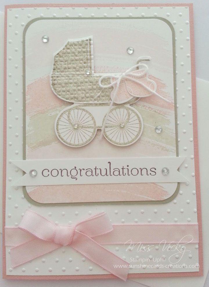 Baby Card Stamp Set - Something for Baby, Work of Art, Sweet Essentials Stampin' Up!