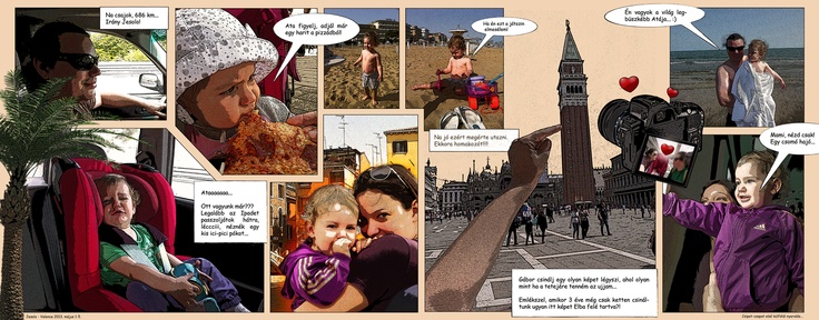 Family holiday comic strip poster...