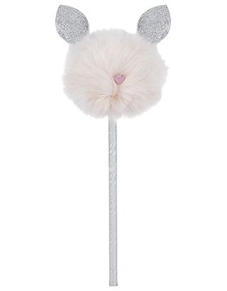 Make your stationery stand out thanks to our glitter bunny pom pom pencil. This sweet-as style is topped with a pink faux fur head, heart nose and sparkly ears.
