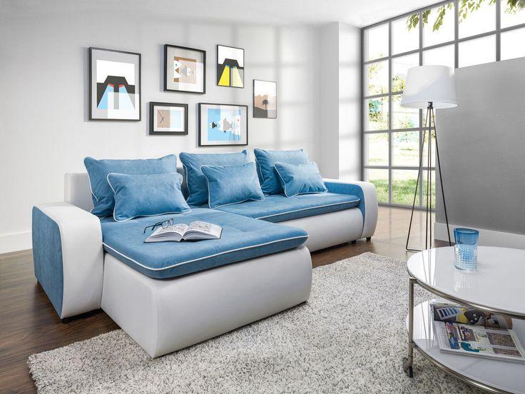 Elegant Couchgarnitur Couch VIVA Polstergarnitur Sofa Polsterecke mit Schlaffunktion