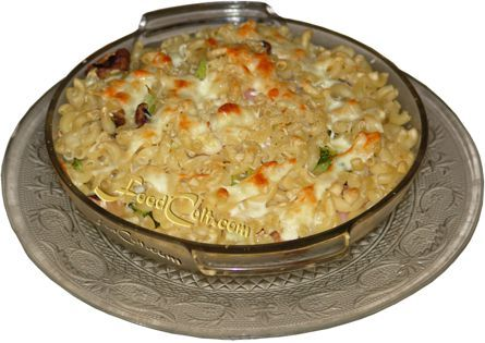 #macaroni - boiled with a mix of your favoured #vegetables. Tossed into a #casserole-for-one with cubed #cheese, bell pepper and red onion and baked 'til all the cheese has melted and just starting to colour. Sprinkle with your favourite grated ... and finish under a low #broiler.  Warning: this may be #comfortfood- Free, Easy #Recipes @ FoodCult.com - #Food Matters!