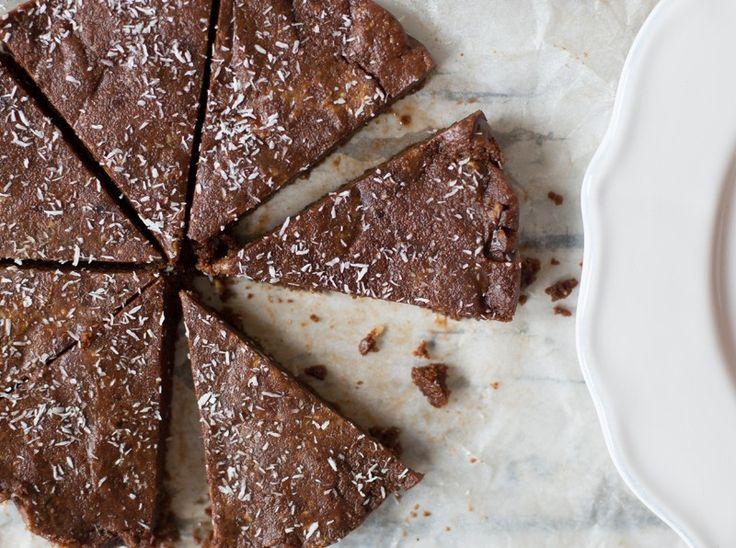 Raw Chocolate Peanut Butter Brownie Cake - Madeleine Shaw