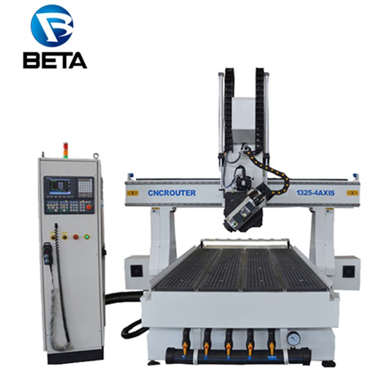 Best sales!high precision wood 4 axis cnc engraving cutting machine with Delta servo motors for wood cabinet processing