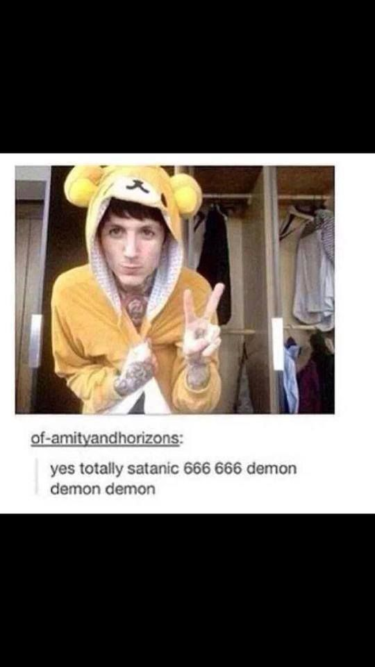 Yes totally a demon. Psh ya right.