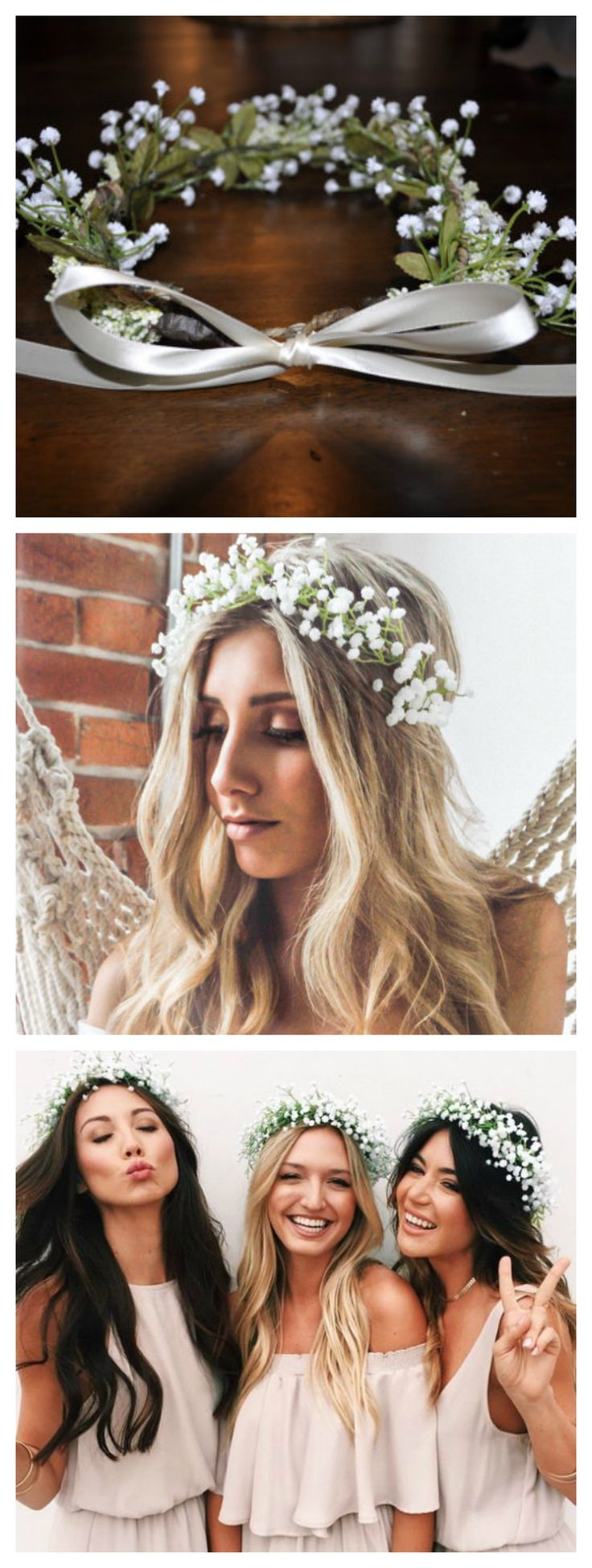 Artificial Babys Breath Flower Crown. Perfect for wedding or any special occasion. You can ask for custom order as well. We can make it for flower girls or baby.