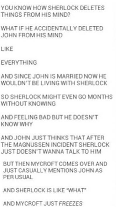 NO NO NO NO NO! Actually, I don't believe that Sherlock would ever 'accidentally' delete anything, least of all John.