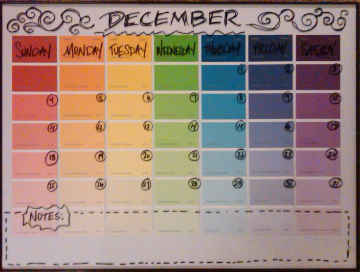 Best Paint Chip Calendar Ideas On   Calendar Paint
