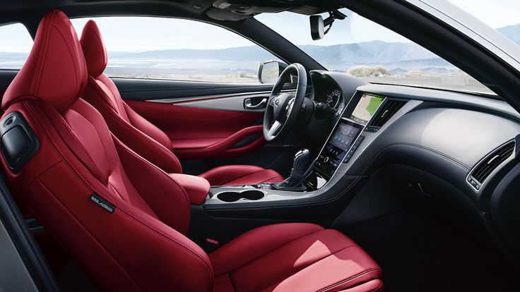 2017 INFINITI Q60 Interior | Red Leather Sport Seat Details