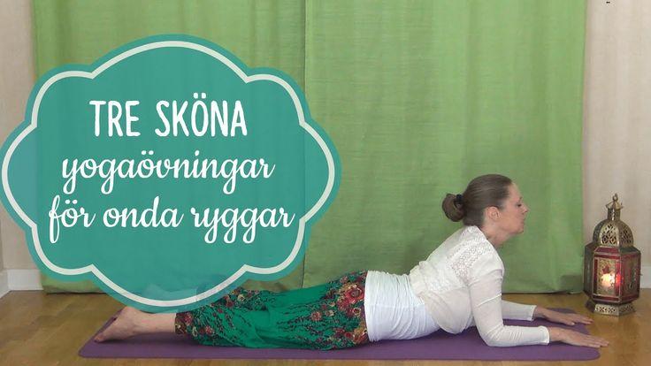 Tre yogaövningar för dig som har ont i ryggen - Mediyoga