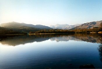 Elterwater Lake in the Lake District, Cumbria.