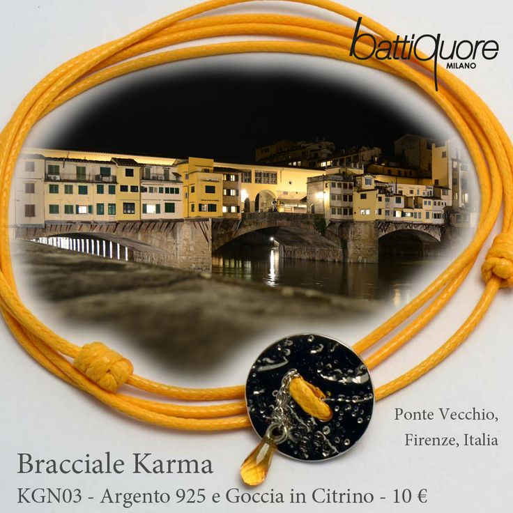 #Cartoline Battiquore nuovi bracciali Karma #newcolor #giallo #Firenze http://goo.gl/tCoUkw http://www.battiquore.it/shop/it/karma/60-kgn03.html