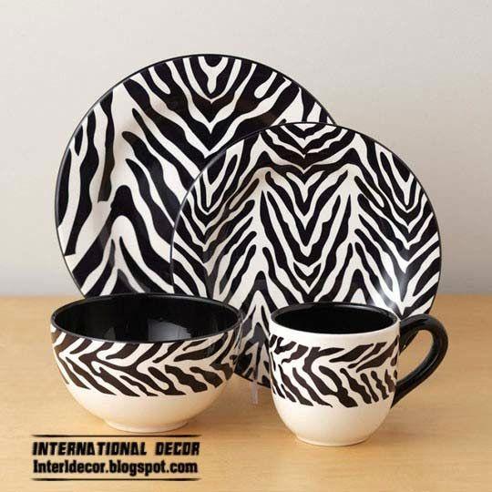45 best dining ware images on pinterest dinner ware for Zebra home decor