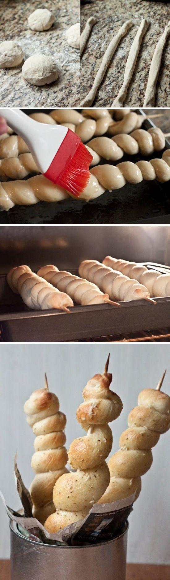 Buttery Bread Twists | Recipe By Photo