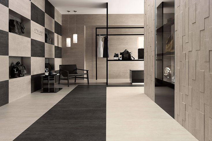The 6036 porcelain tile available in white, cream and brown.