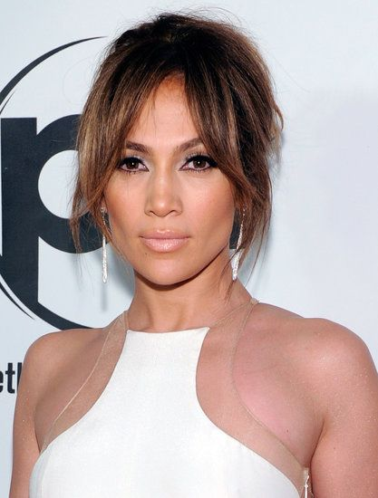 Part face-framing layers and part long bangs, Jennifer Lopez's fringe is another great option for those on the fence with their hair