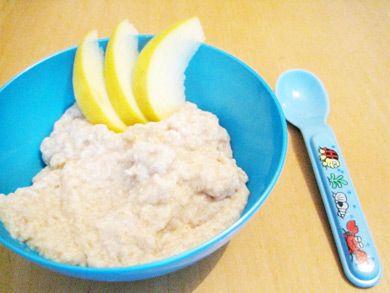 Brei aus Banane und Schmelzflocken vegan