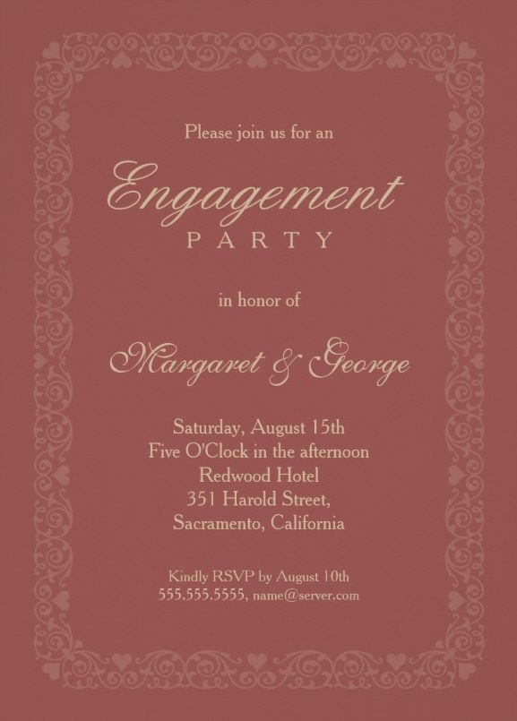 Engagement invitations online templates jobsbillybullockus – Engagement Invitations Online Templates