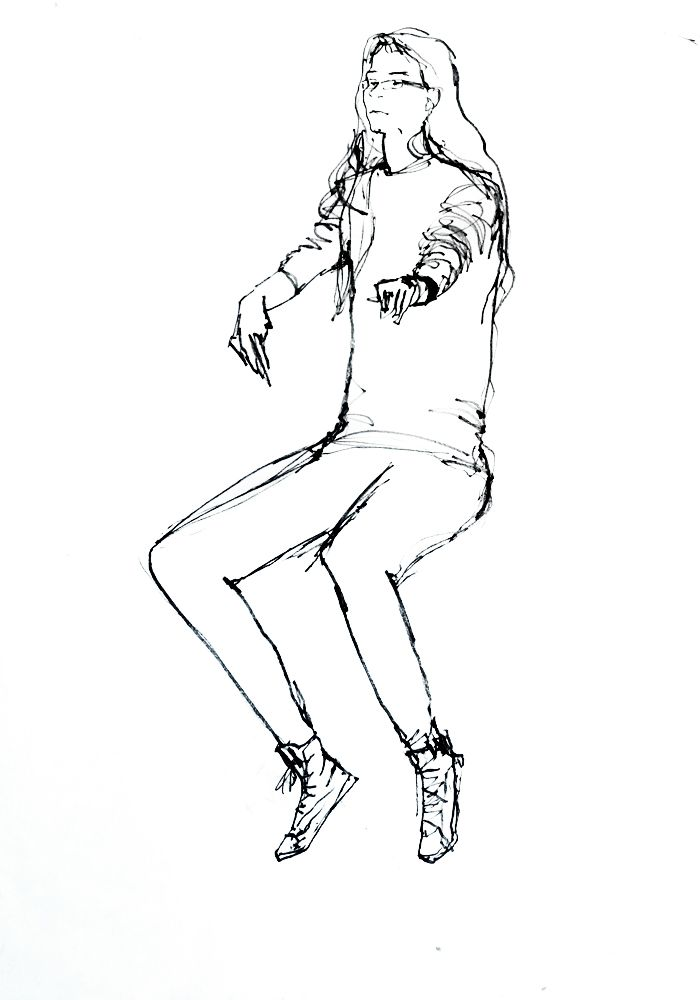 Carlota Martinez. Tinta-da-china s/ papel, 59,4 x 42 cm