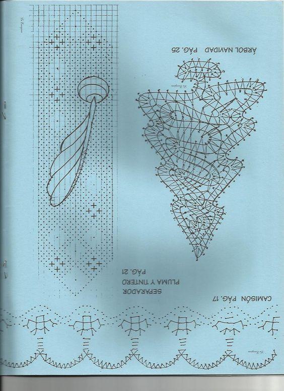 renda de bilros / bobbin lace marcadores / bookmarks: