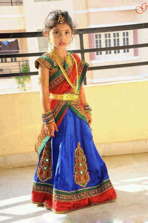 INdian Girls Picture in Half saree