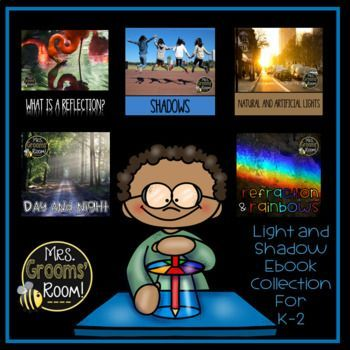 Light and Shadow Ebook Collection This collection of light and shadow ebooks will be perfect for your light and shadows unit. These PowerPoint presentations or ebooks can be used in many ways like launching or reviewing your lessons!  In these ebooks, you will find pictures that relate to our real lives and provide information that is easy to understand for younger students.