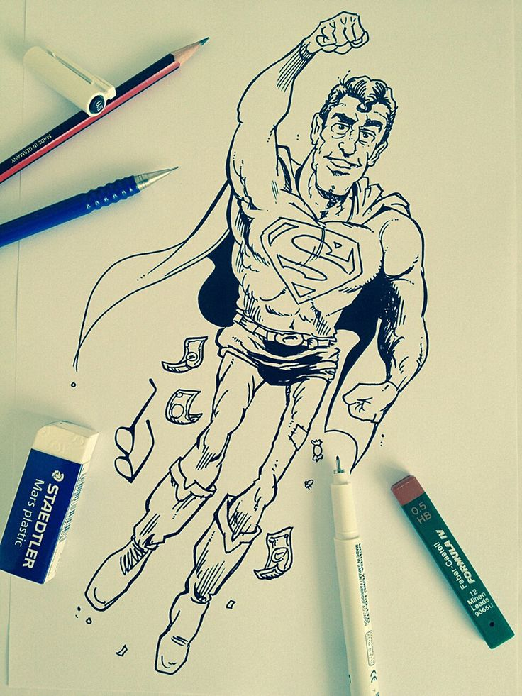 Superman sketch By Yeo