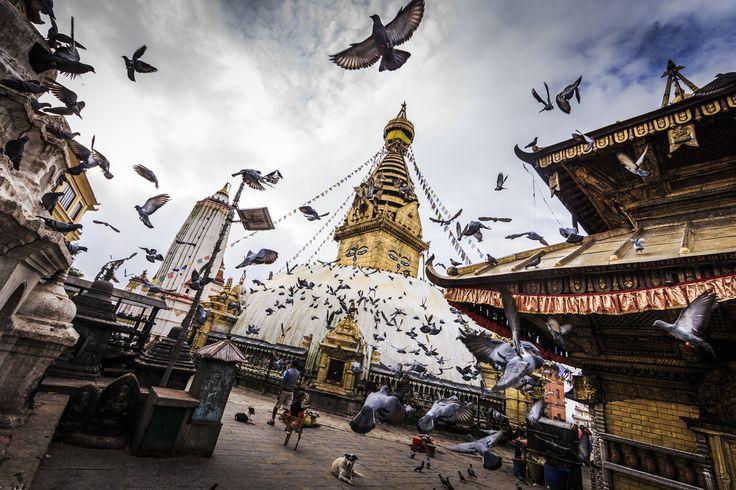 """Manaslu Ski Challenge 2014"" was the second event of the five-year project called Hic Sunt Leones.. photo: Marcin Kin Photography #suntleones #manaslu #kathmandu"