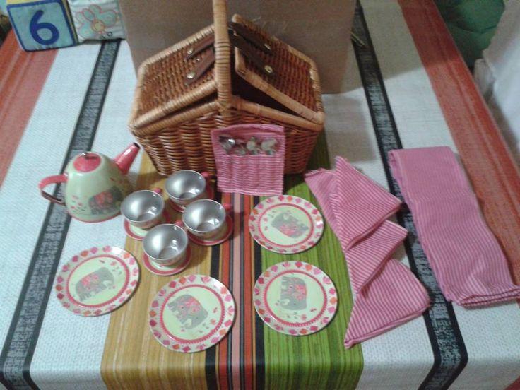 SET DE TE INDIA DE METAL (33,90 €) #setdeteinfantil #juegodeteparaniños http://www.babycaprichos.com/juego-de-picnic-infantil-motivos-india.html