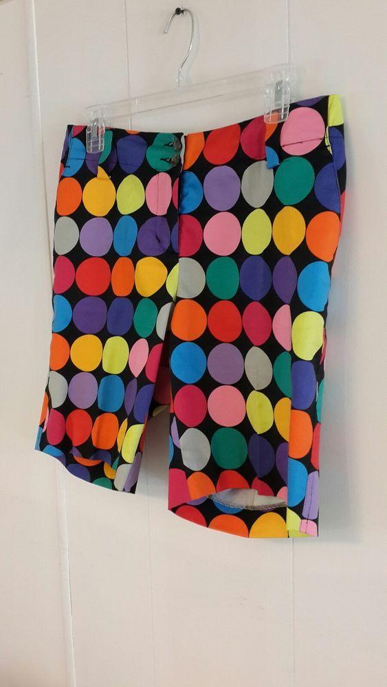 5154e1dbd0 Loudmouth Golf Shorts sz 8 Multi-Color Circles Bermuda Length Mid Rise  Stretch #Loudmouth #BermudaWalking