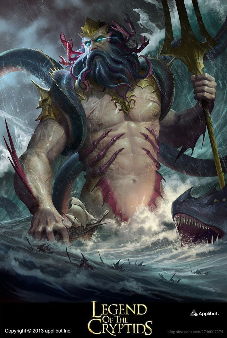 Giant Triton/Poseidon keeping watch over his seas   DnD ...