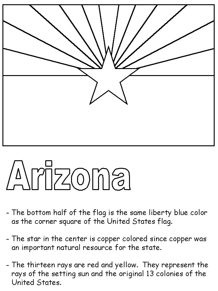 """State Flag Facts & Coloring Sheet for """"State of the Week"""""""