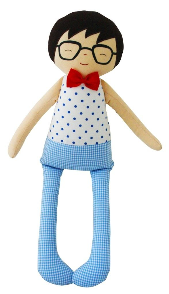 Alimrose Ted Cuddle Doll 45cm - Blue Spot - Ted is cute as a button and looking for a best buddy to take him home. Our cutest boys doll ever!