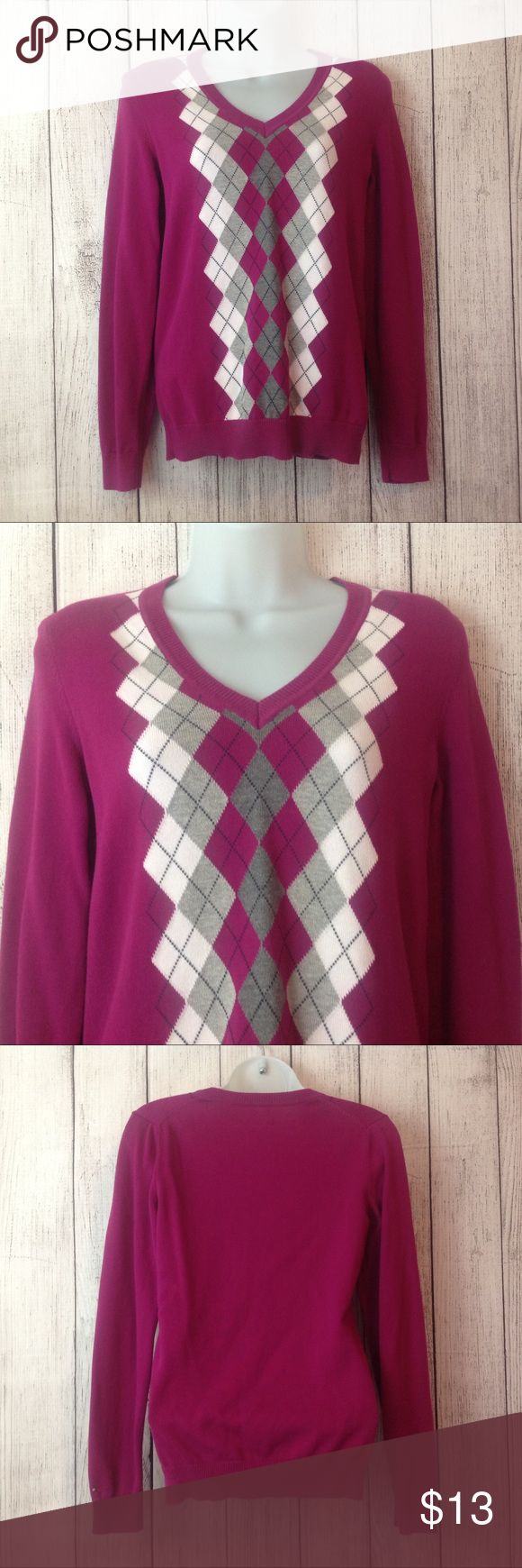 "Tommy Hilfiger Summer Sweater Maker: Tommy Hilfiger  ♥ Material: Cotton Blend ♥ Color: Fuschia ♥ Measured Size: Pit to pit- 17"" Pit to cuff- 18"" Shoulder to waist- 23""  ♥ Tag Size:  S ♥ PLEASE CHECK YOUR ACTUAL MEASUREMENTS TO MAKE SURE IT IS THE RIGHT SIZE! THANKS!  ♥ Condition: Great Used Condition ♥ Item #: (office use only) D  Follow us for coupon codes!  INSTAGRAM-thehausofvintage1984 Twitter- @hov1984 Facebook- Intergalactic Haus of Vintage 1984 Tommy Hilfiger Sweaters V-Necks"