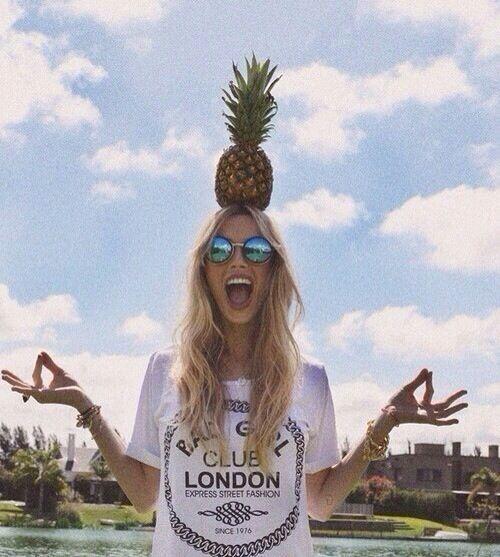 Resultado de imagem para fotos Tumblr com abacaxi