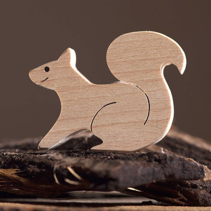 Wooden squirrel toy animals and