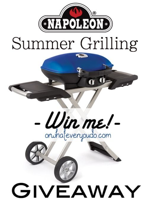 """""""I just entered to win a Napoleon TravelQ™ 285 with Scissor Cart on Or Whatever You Do! Click over to enter to win! http://goo.gl/w0vKwF #giveaway #napoleon #summer #grilling #bbq"""