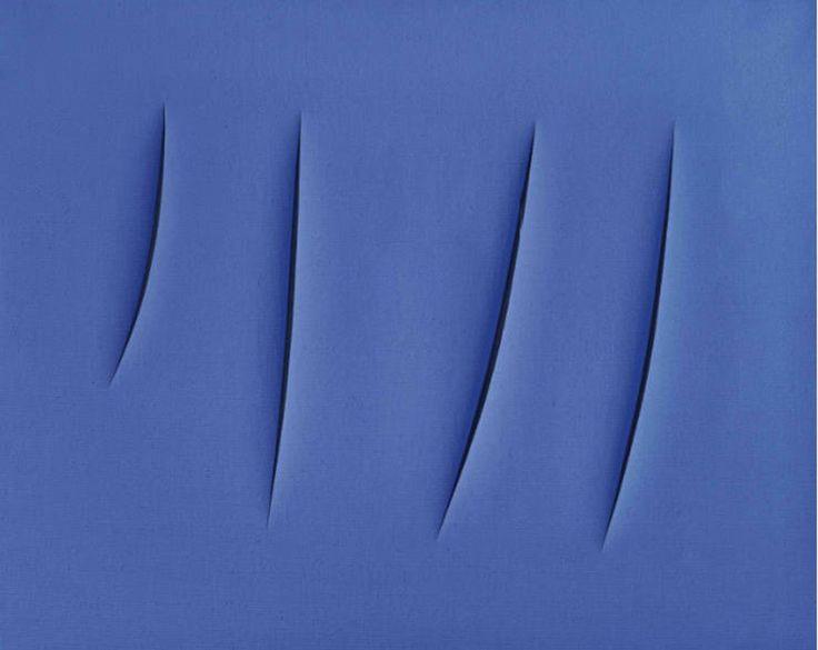 Lucio Fontana (1960) Concetto spaziale, Attese  idropittura su tela  cm 65x81,5