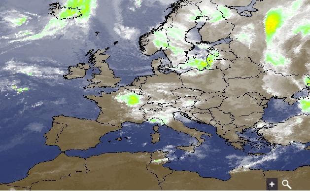 España | El tiempo: Previsión, por ciudades, del tiempo para los próximos 5 días (Meteosat: mapa infrarojos + radar)