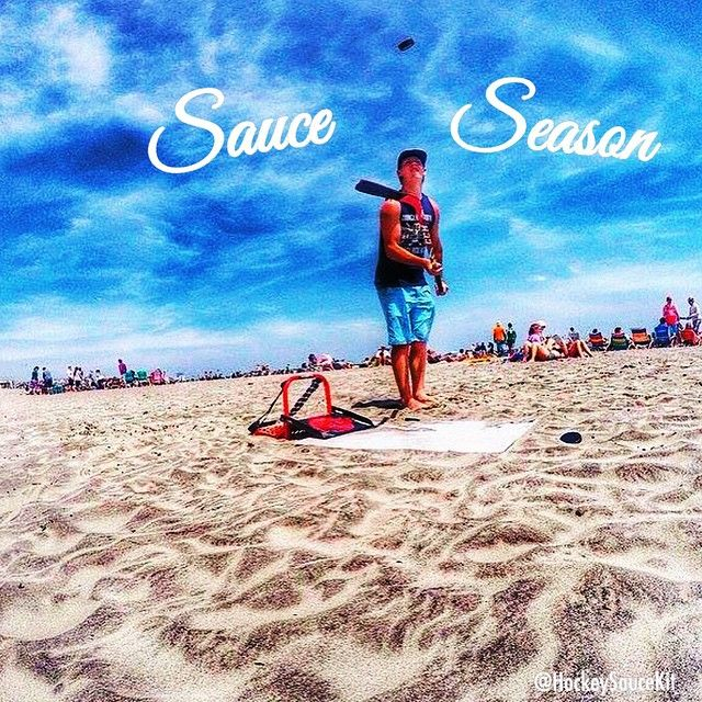 @heverly_  Keepin it Saucey on the East Coast this summer! #BeachSauce @ Margate city, NJ - Make sure to #HockeySauceKit in all your SAUCE shenanigans ya beautys #SauceSeason #HockeyLifeStyle #LivinTheDream